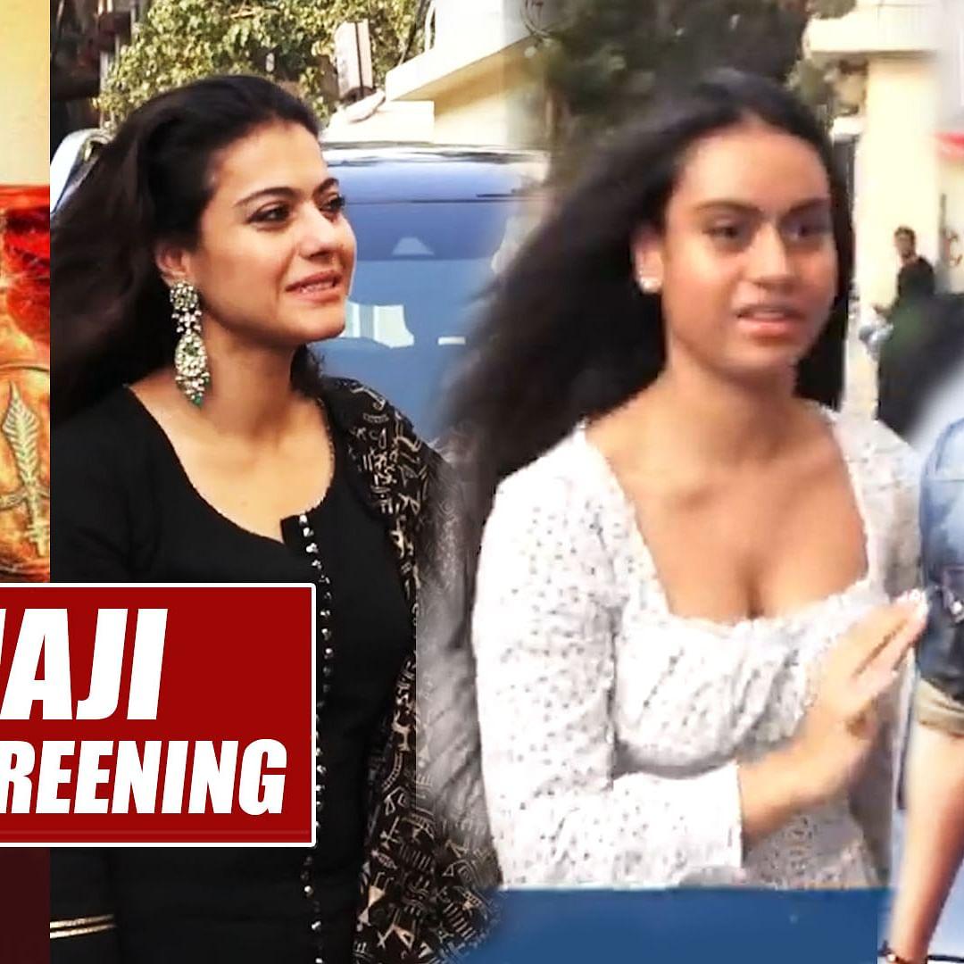 'Tanhaji': Ajay Devgn, Kajol and family attend special screening