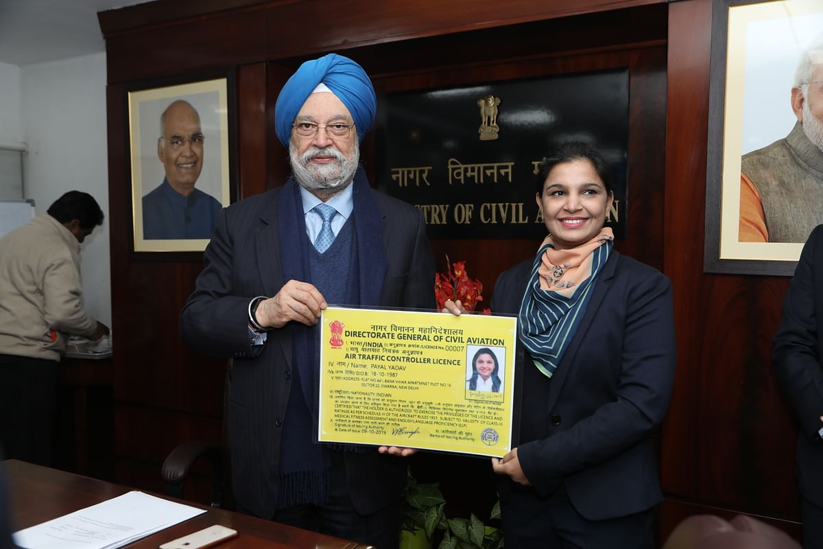 MoS Hardeep Singh granted first ever license to Air Traffic Controllers of AAI