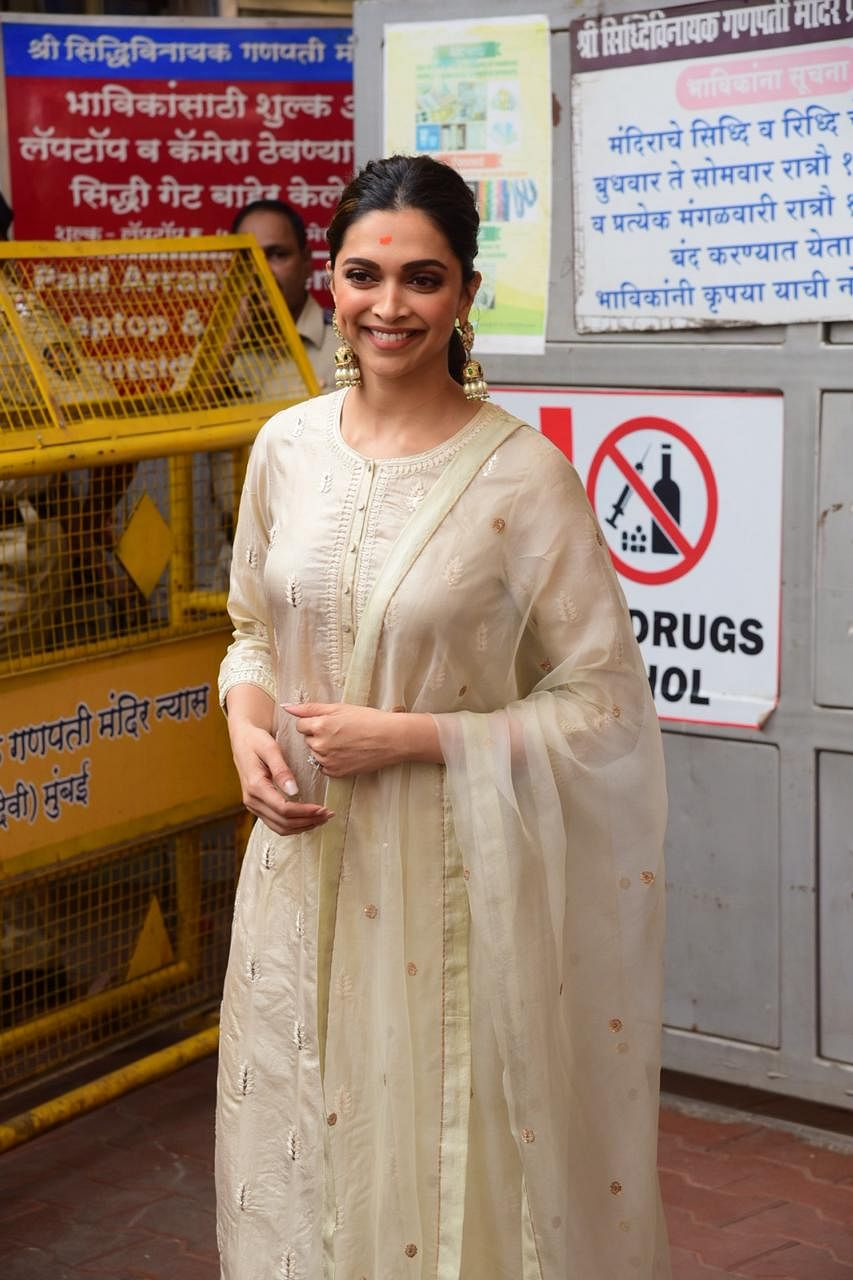 Deepika Padukone visits Siddhivinayak Temple on 'Chhapaak' release day