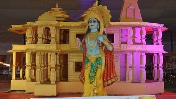 VHP unveils replica of Ram temple model at Magh Mela in Prayagraj