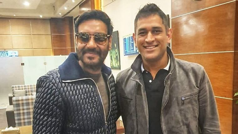 'Cricket and films uniting religion of India': Ajay Devgn meets MS Dhoni