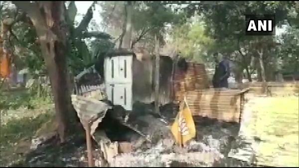 BJP office in Bankura set ablaze, party blames TMC