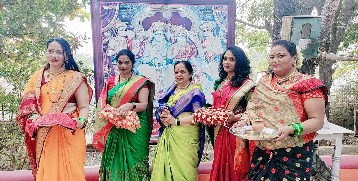 Maratha community women enjoining Sankranti traditions