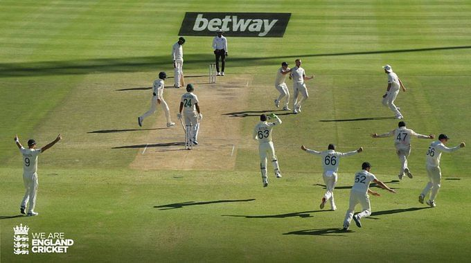 England won by 189 runs to level series against South Africa