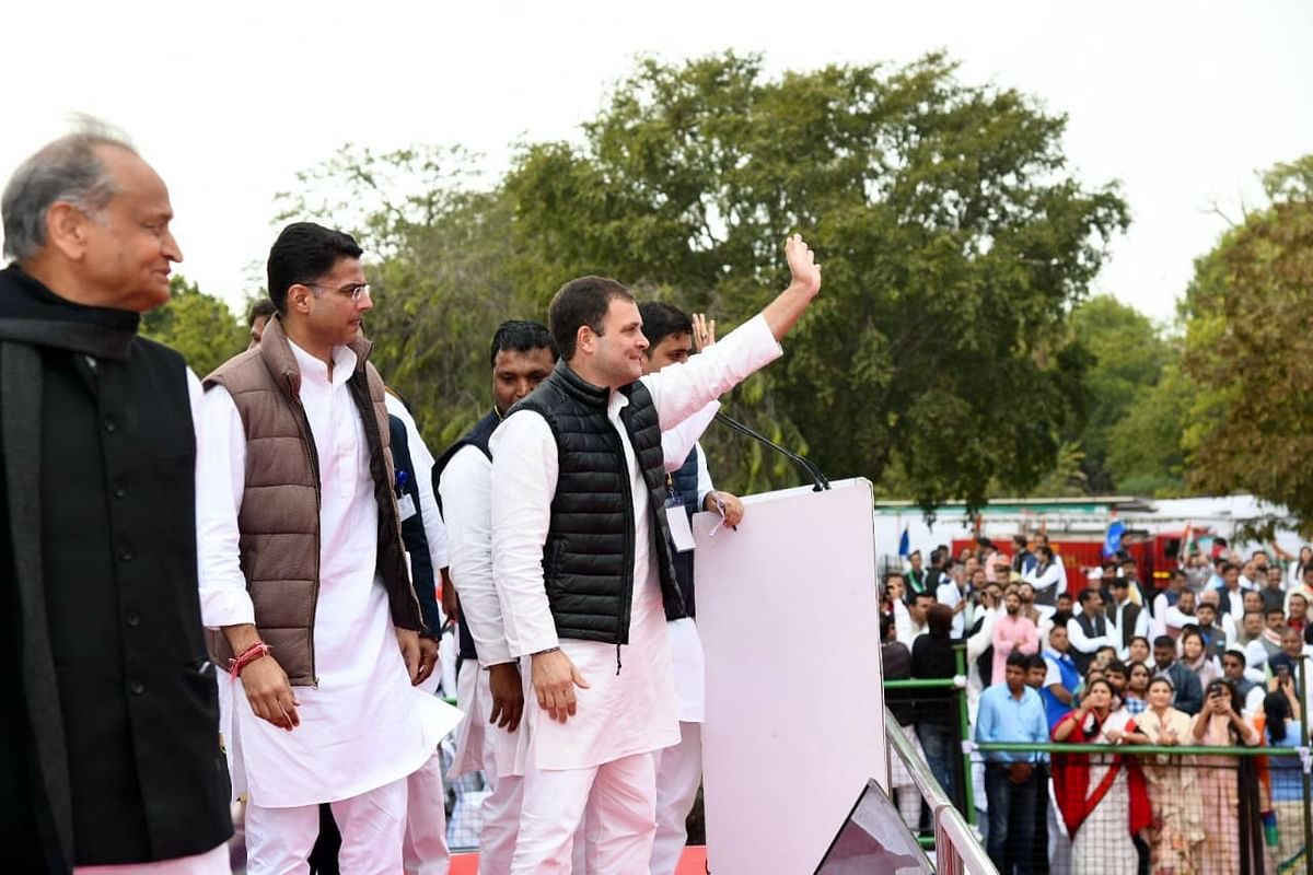 Yuva Aakrosh Rally: Ashok Gehlot and Sachin Pilot call upon Rahul Gandhi to lead the youth