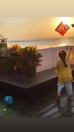 Too cute to handle: Shahid Kapoor's daughter Misha celebrates Makar Sankranti by flying a kite