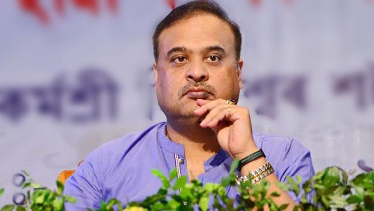 BJP MLA Himanta Biswa Sarma faces protest during India vs Sri Lanka T20I in Guwahati