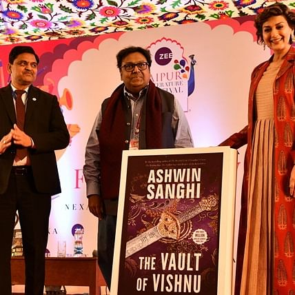 Zee JLF 2020: Sonali Bendre launches Ashwin Sanghi's latest book - The Vault of Vishnu