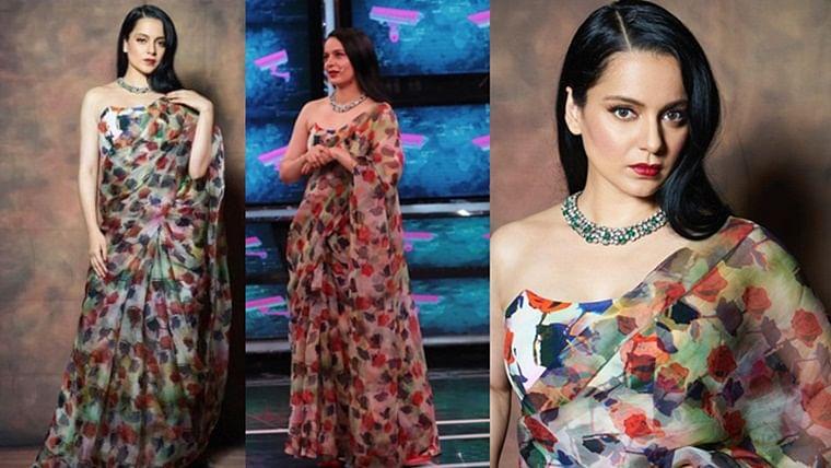Kangana Ranaut's Rs. 40k rose print saree is perfect for a summer wedding