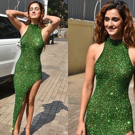 Disha Patani is sending Jan temperatures soaring with sexy high-slit green dress