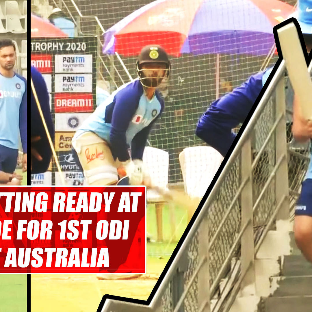 IND vs AUS: Captain Kohli's Men in Blue getting ready at Wankhede for 1st ODI against Australia