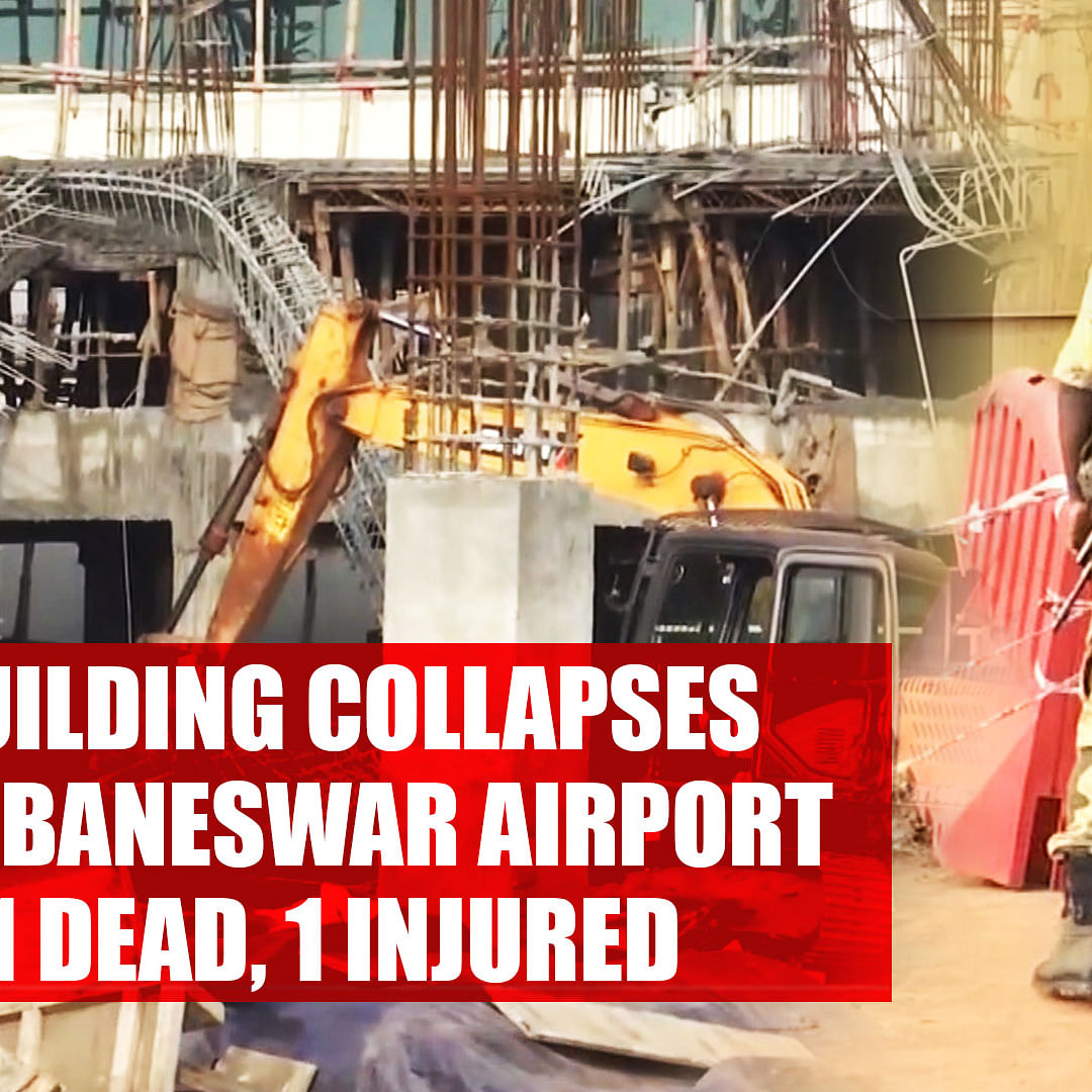 1 dead, 1 injured after roof of under-construction building collapses near Bhubaneswar airport