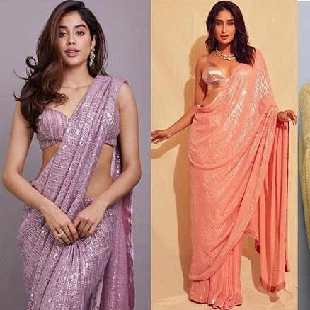 From Janhvi Kapoor to Kareena Kapoor Khan: Manish Malhotra's sequinned saree that B-town beauties are obsessed with