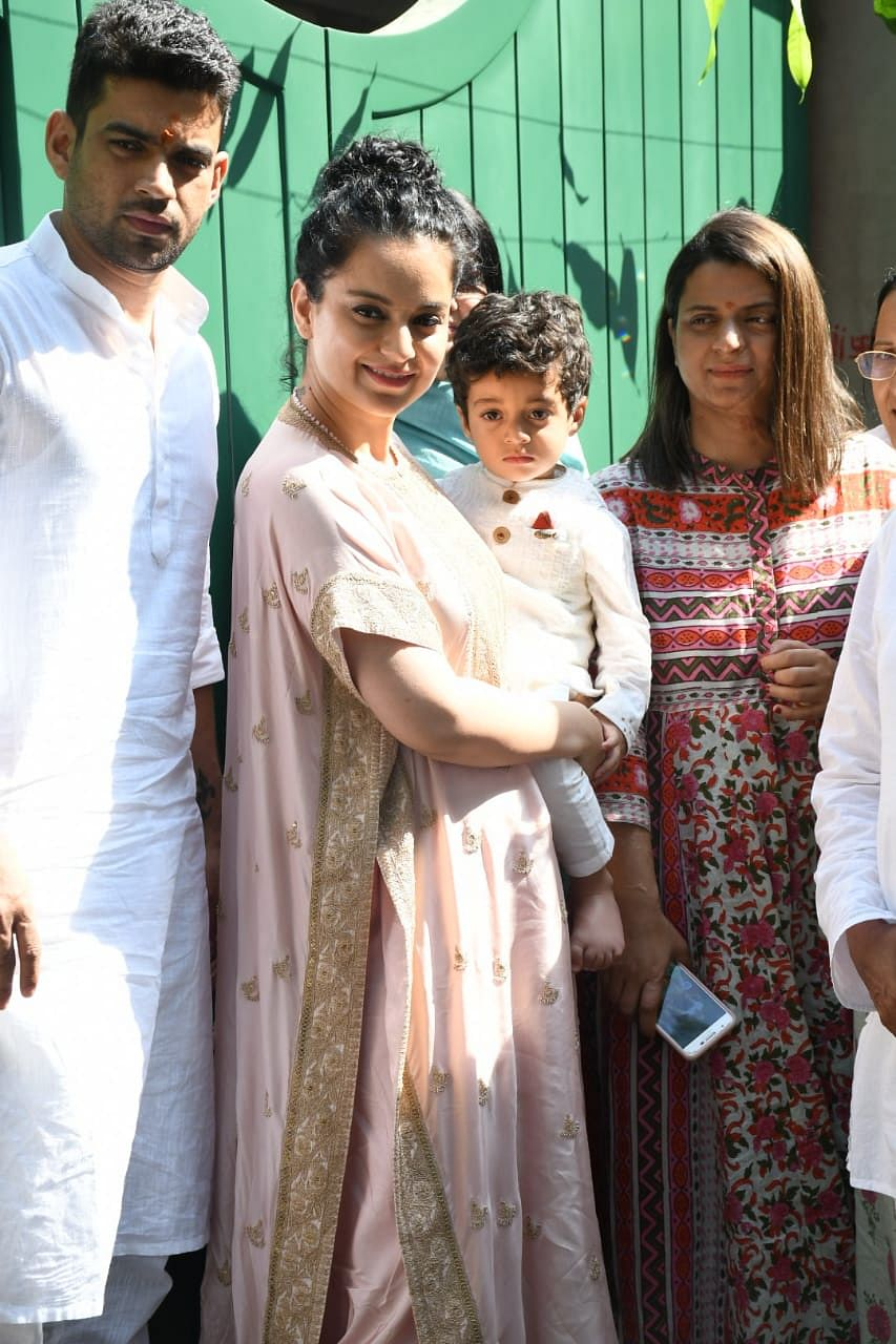 Kangana Ranaut inaugurates her production house Manikarnika Films with family