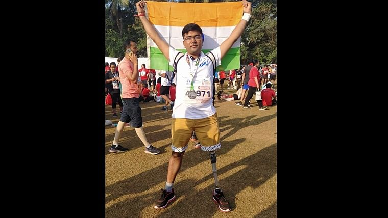 Mumbai Marathon: 30-year-old differently abled man inspires runners