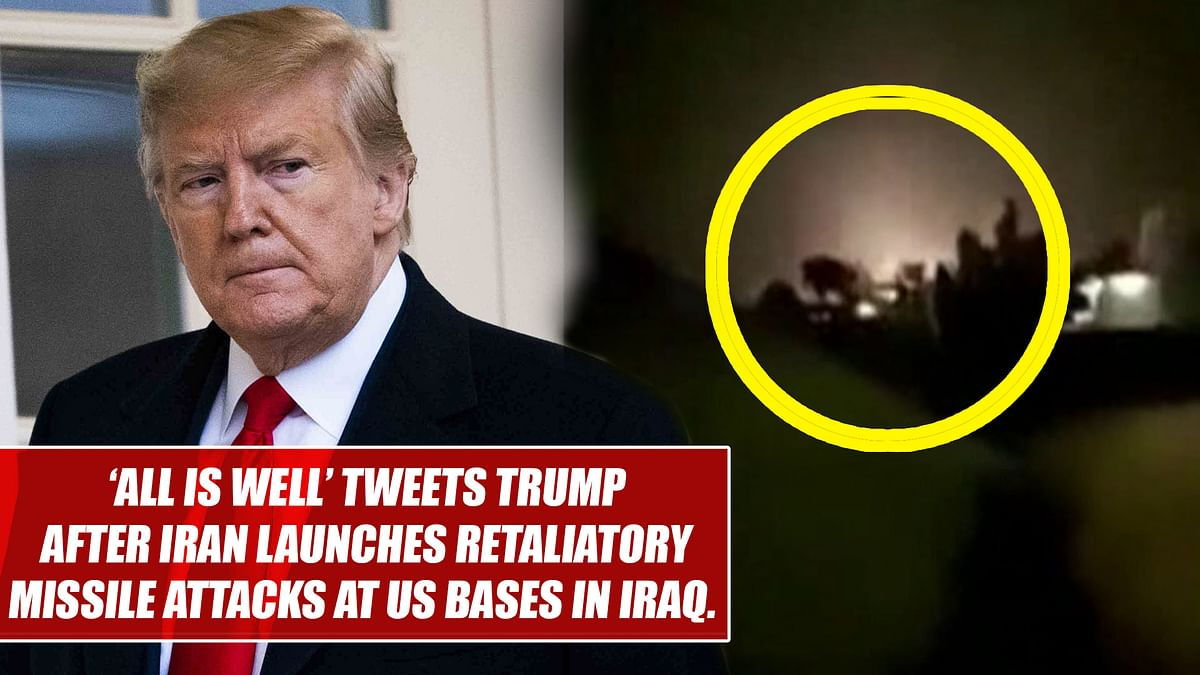 'All is well' tweets Trump after Iran launches retaliatory missile attacks at US bases in Iraq