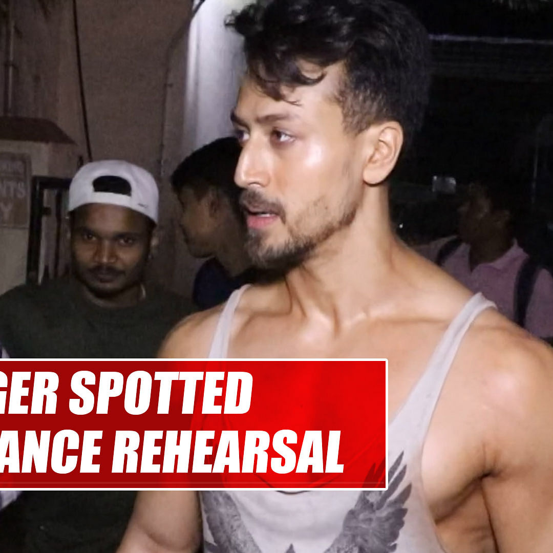 Tiger Shroff spotted post dance rehearsal in Mumbai