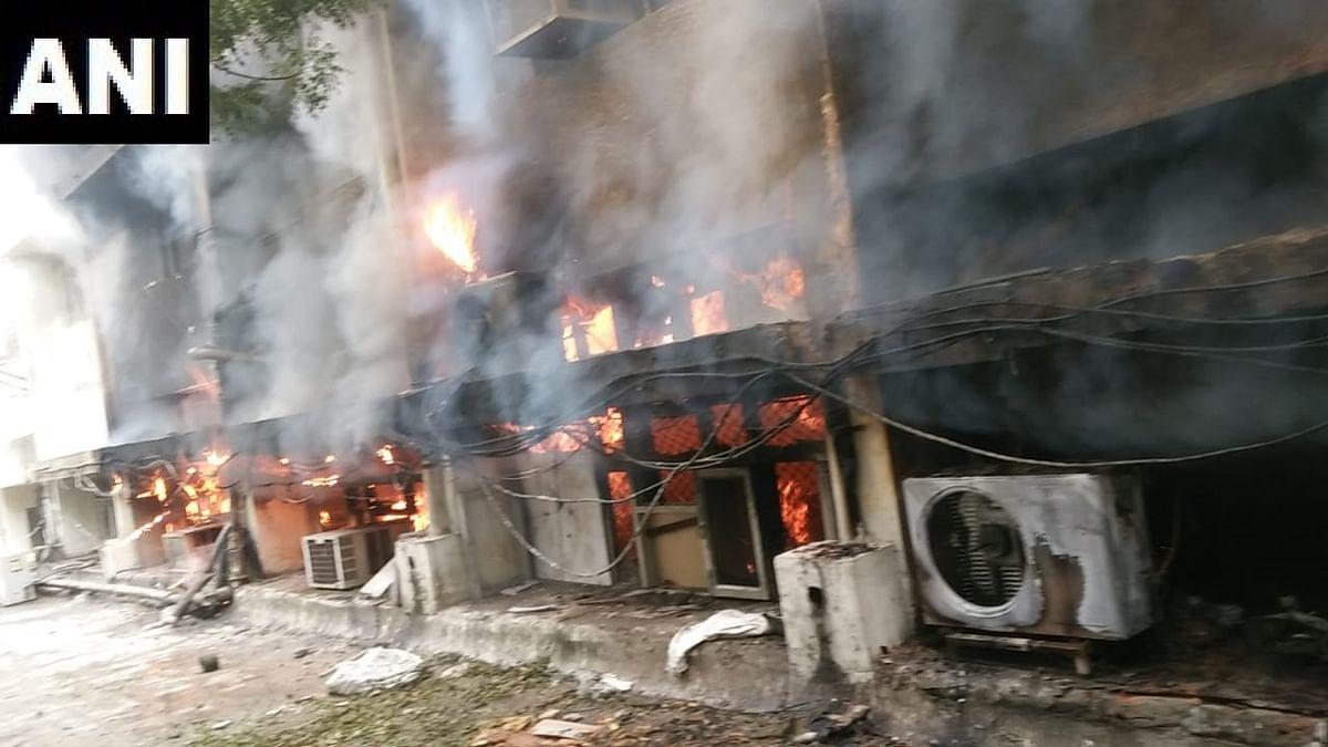 Delhi: Massive fire breaks out at Transport Dept office; 8 fire tenders on the spot