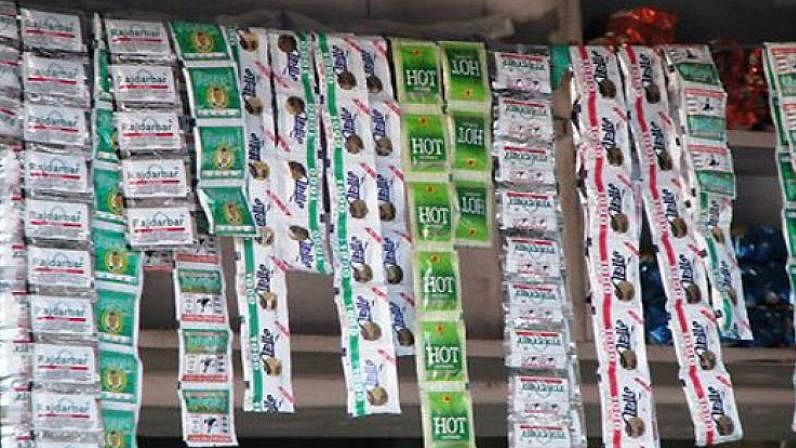 Banned gutkha seized, four held