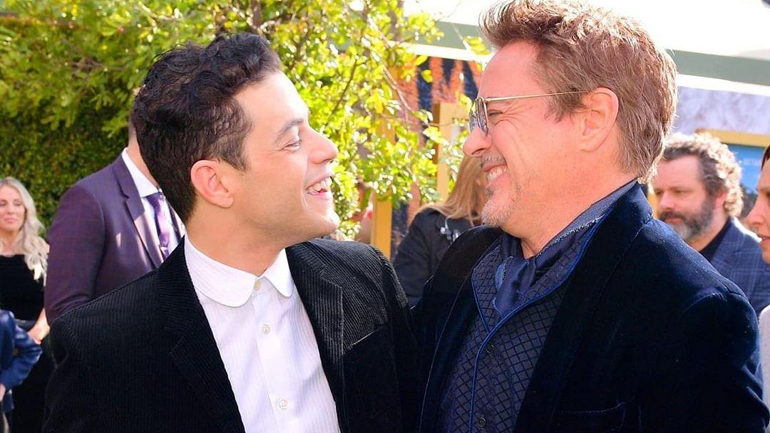 Rami Malek (left) with Robert Downey Jr