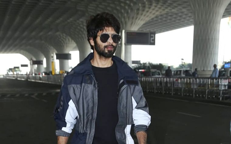 Back with a boom: Shahid Kapoor spotted at the airport as he jets off to resume 'Jersey' shoot