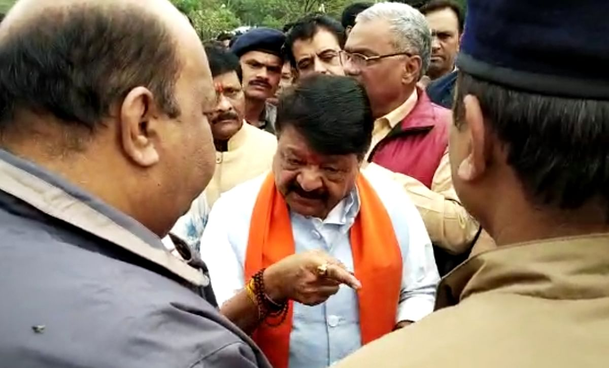 RSS leaders are here else I would have put Indore on fire: BJP leader Kailash Vijayvargiya to ADM