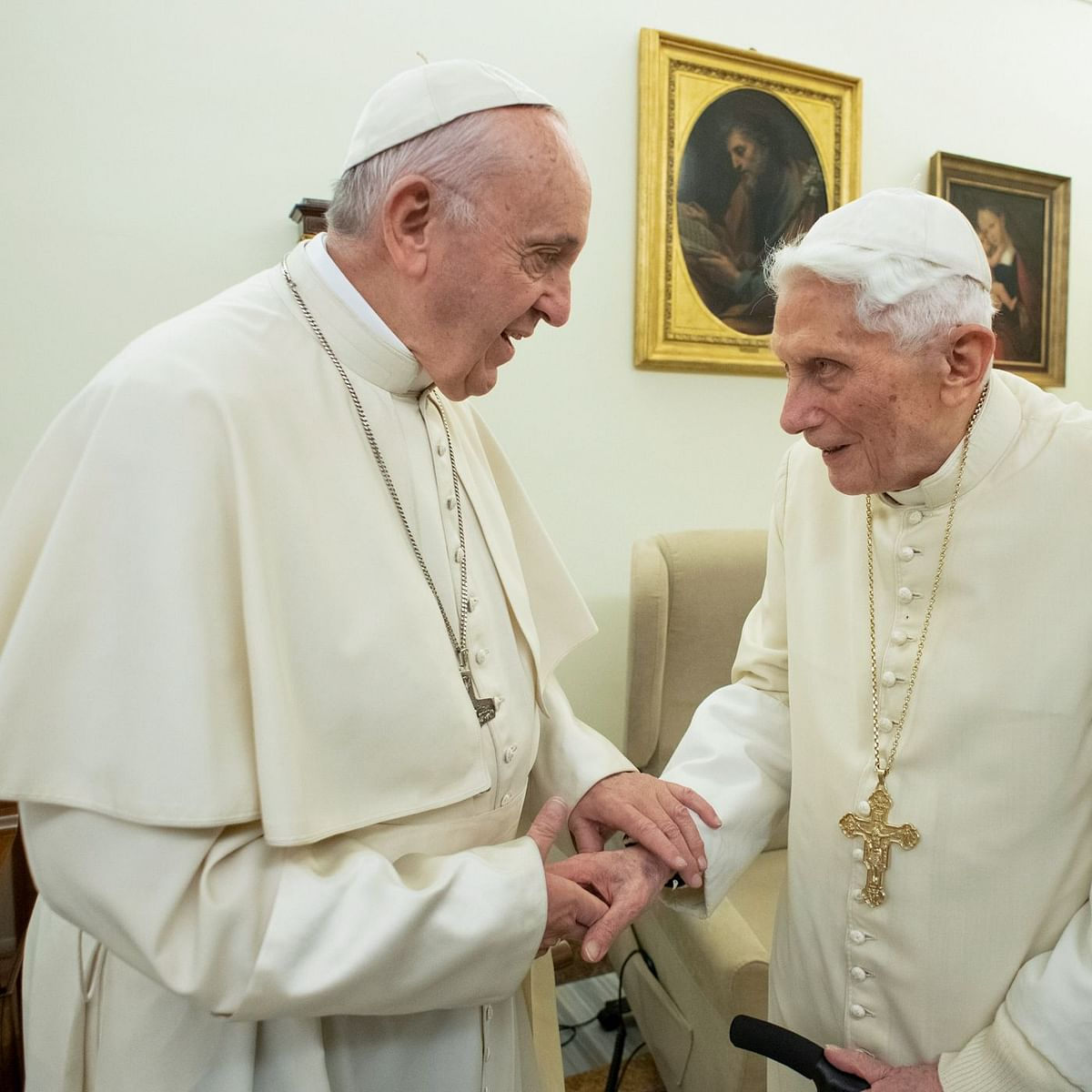 Ex-Pope Benedict XVI breaks silence over priest celibacy
