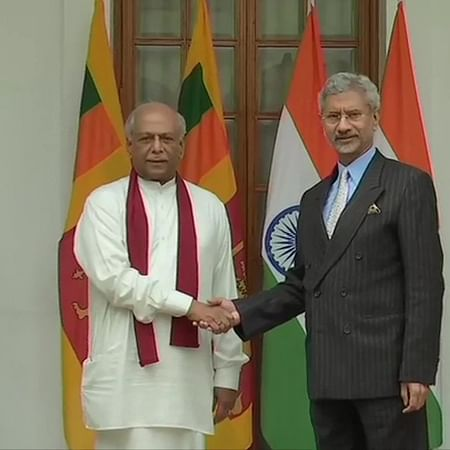 Sri Lankan FM Dinesh Gunawardena meets S Jaishankar at Hyderabad House