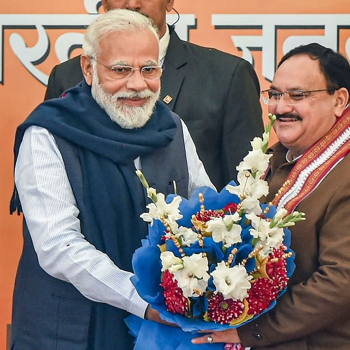 JP Nadda pads up for dicey Delhi polls; Amit Shah steps aside as party chief