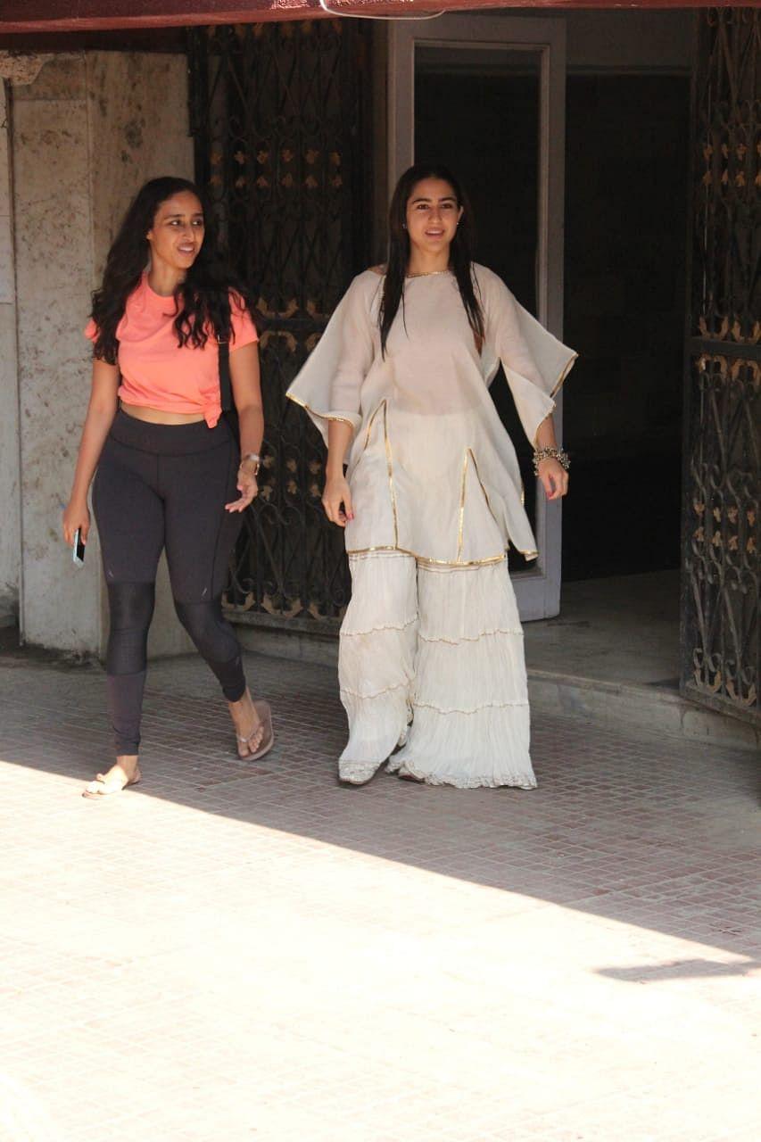 Sara Ali Khan spotted outside pilates class