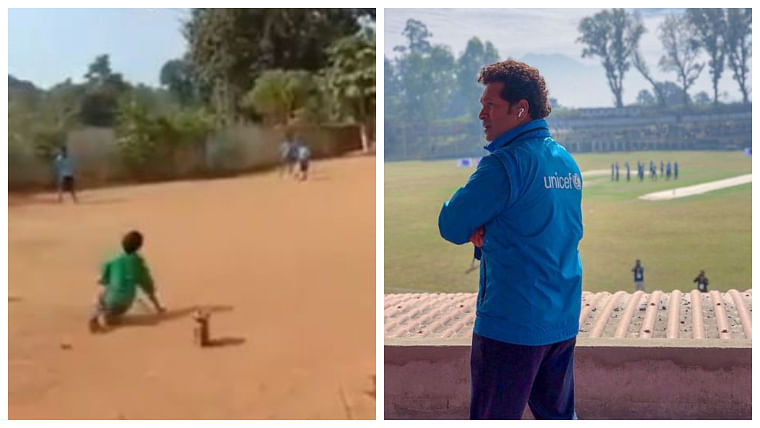 This inspirational video of specially-abled child playing cricket warms Sachin Tendulkar's heart