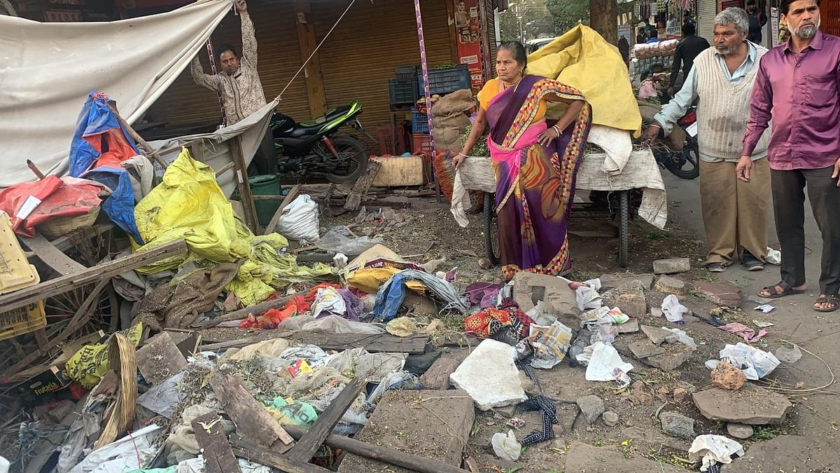 Indore: Illegal temporary shops from Patanipura to Bhamori removed