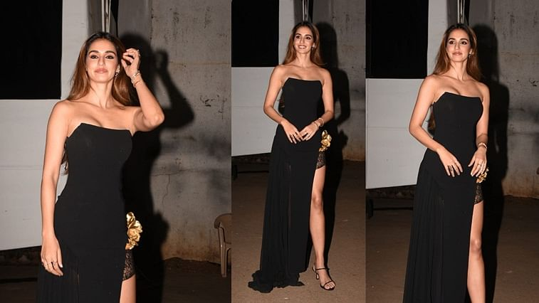 Disha Patani S Sexy Black Dress With Thigh High Slit Is Perfect For A Dinner Date