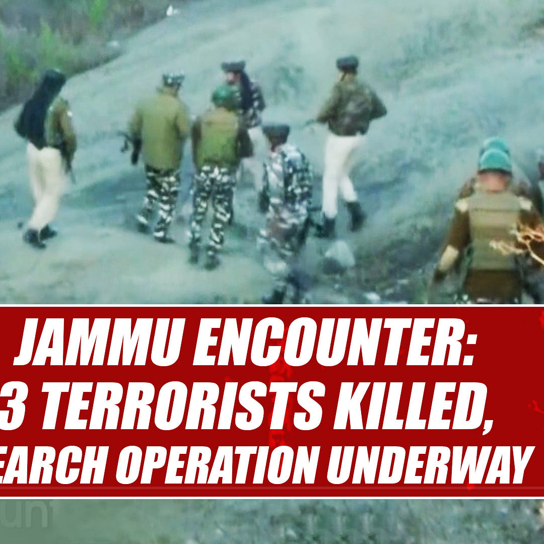 Jammu encounter: 3 terrorists killed, search operation underway
