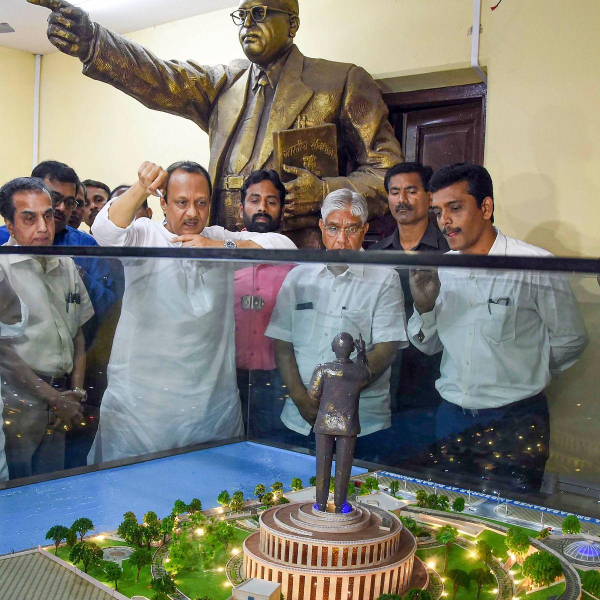 Ajit Pawar reviews progress on Ambedkar memorial in Mumbai