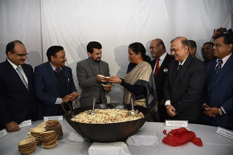 Budget 2021: Halwa Ceremony to be held tomorrow; Nirmala Sitharaman, Anurag Thakur to be present