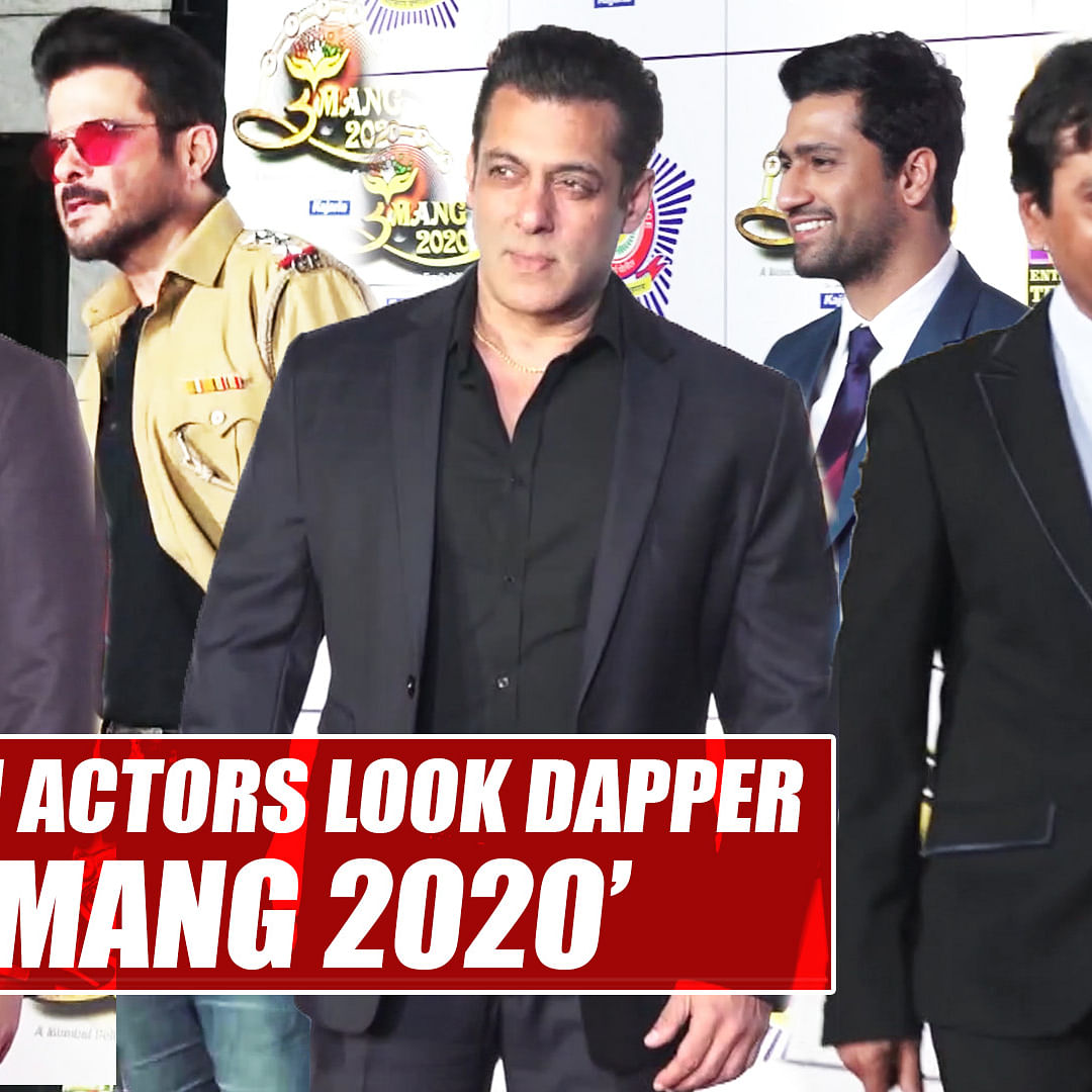 Watch: Salman Khan, Varun Dhavan, Vicky, Kartik and other B-Town actors look dapper at 'Umang 2020'