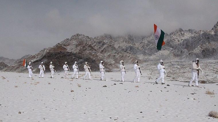 ITBP personnel celebrate Republic Day at 17,000 ft in Ladakh