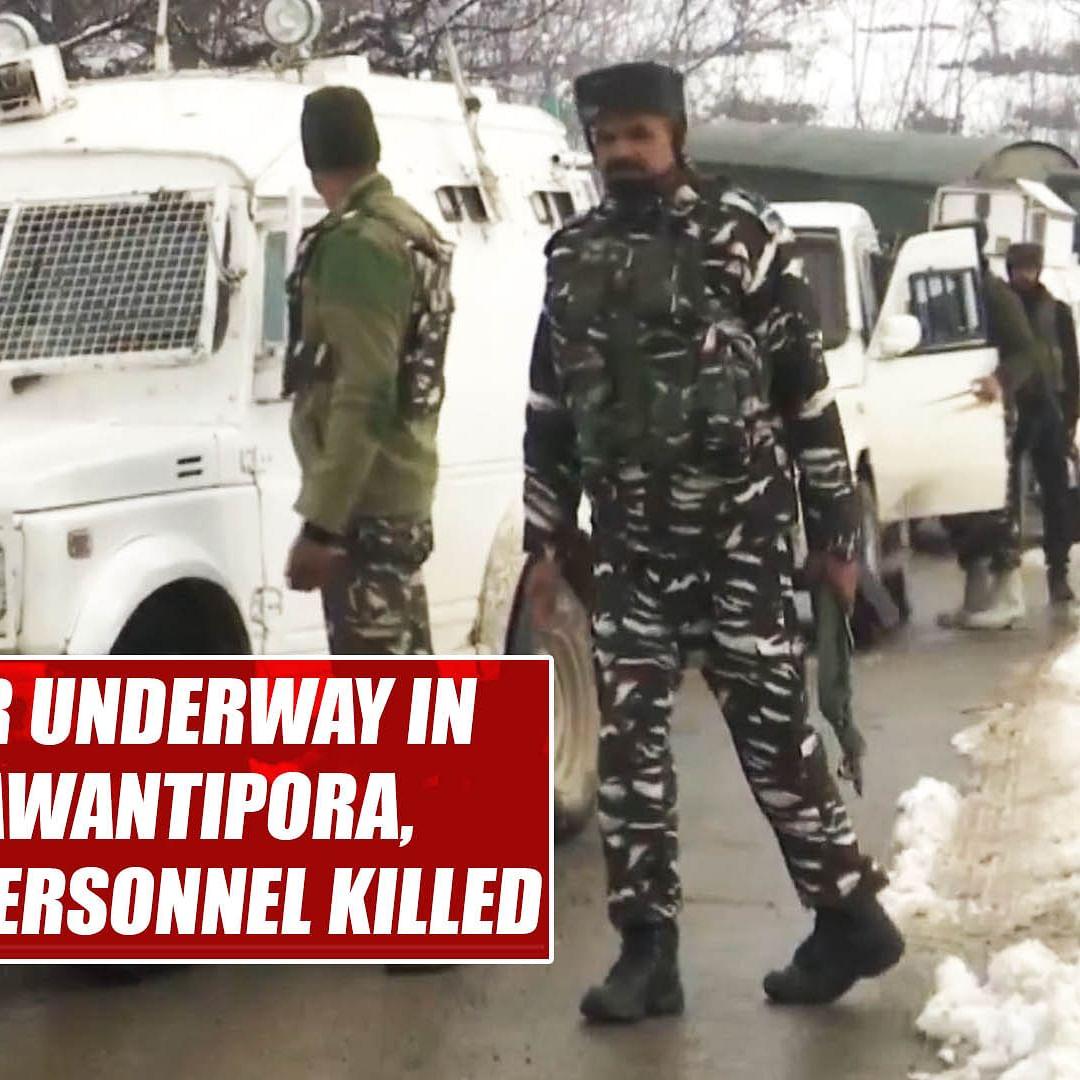 Encounter underway in J&K's Awantipora, 2 security personnel killed