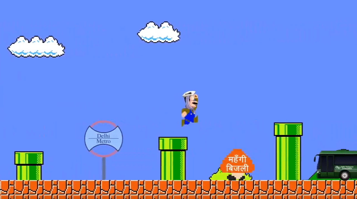 Delhi Elections 2020: Kejriwal is Super Mario in new campaign video that highlights AAP govt's achievements