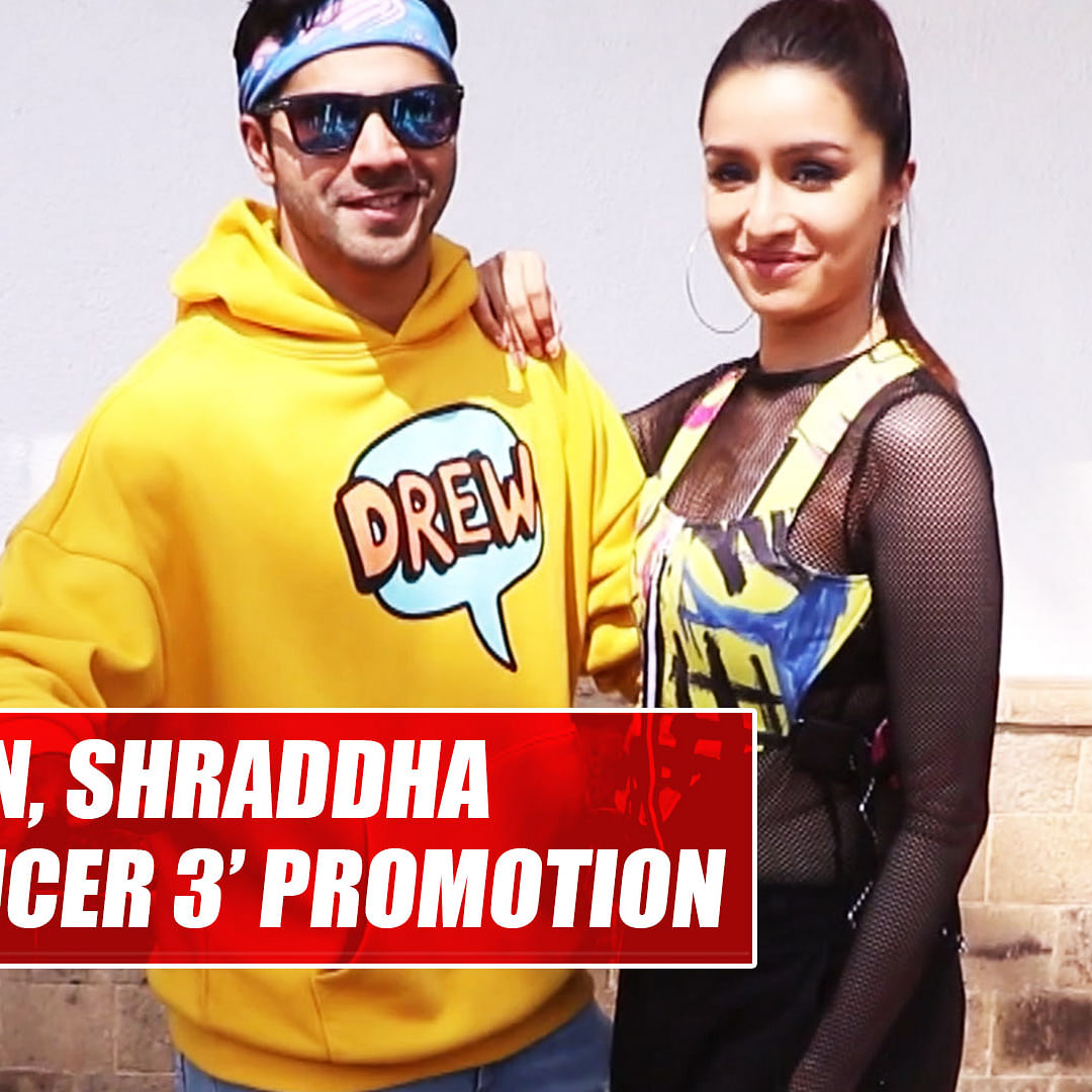Varun Dhawan, Shraddha Kapoor oomph up style game during 'Street Dancer 3' promotion