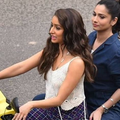 Baaghi 3 leaked pics: Shraddha Kapoor, Tiger Shroff drive scooty on sets in Jaipur