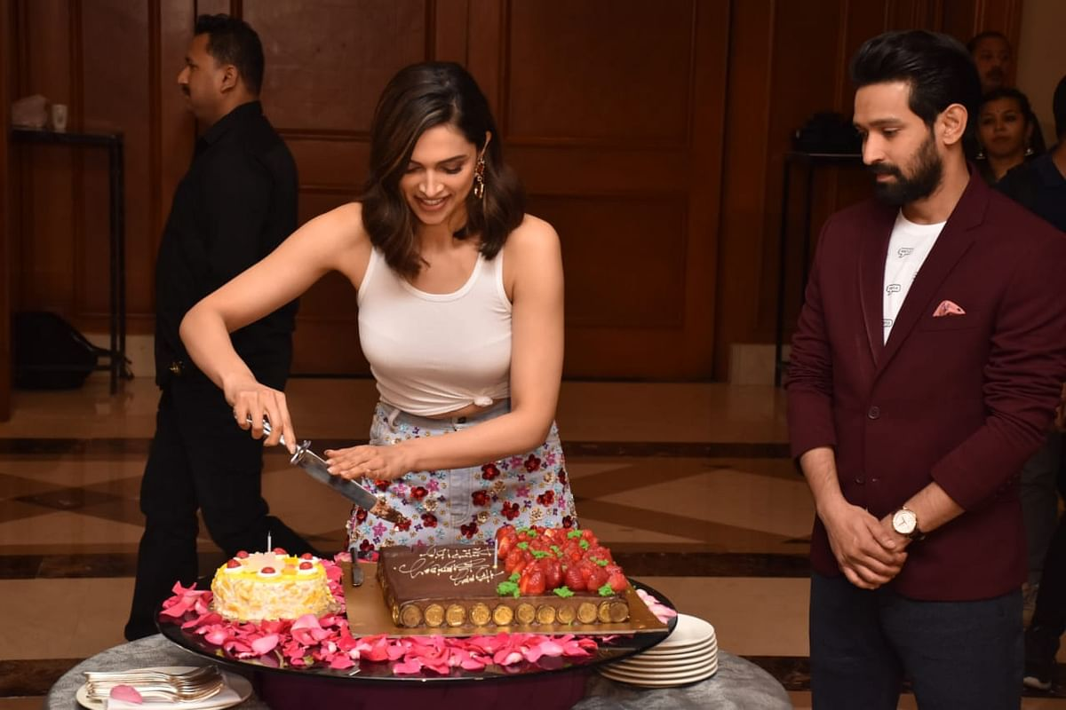 Watch: Deepika Padukone celebrates her birthday with 'Chhapaak's team and paps