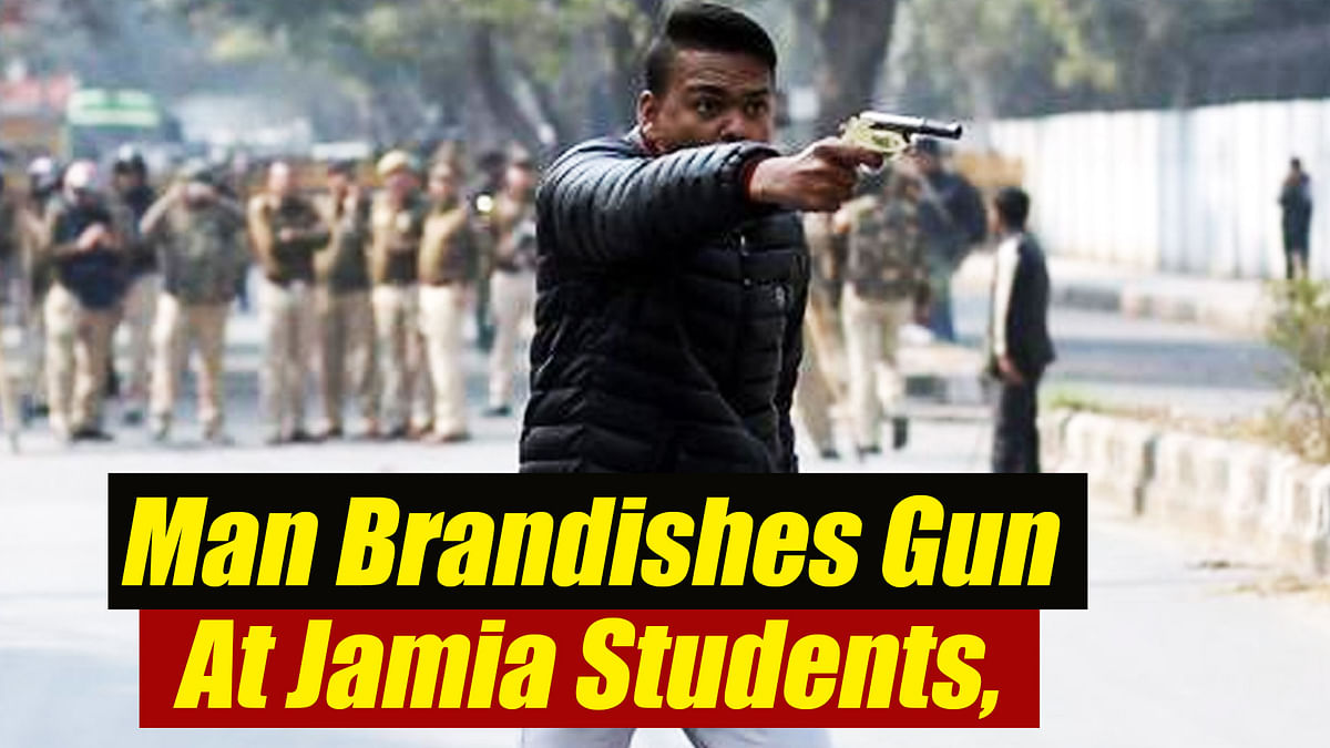 Jamia Firing: Man brandishes gun at students, detained