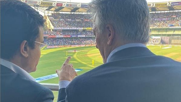 India legend Sourav Ganguly and Australian legend Steve Waugh.