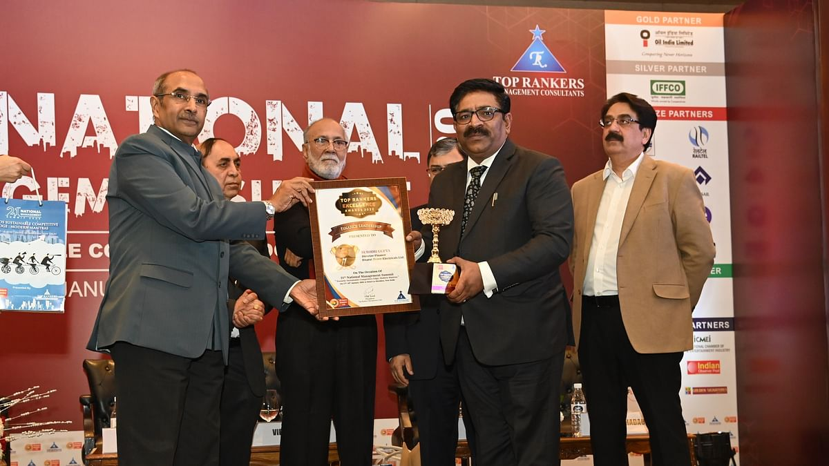 Subodh Gupta, Director (Finance), BHEL, recognised for his Finance Leadership