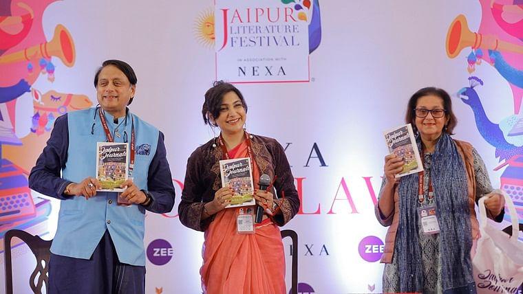 Zee JLF 2020: Shashi Tharoor launches  Namita Gokhale's latest book - Jaipur Journals