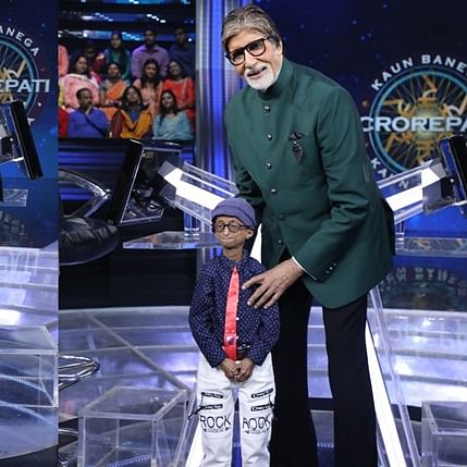 Real and reel life 'Paa': Amitabh Bachchan meets kid living with progeria on sets of 'Kaun Banega Crorepati'