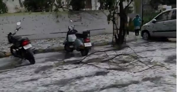 Hail storm or snowfall in Nagpur?
