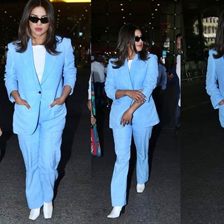 Priyanka Chopra gives major boss lady vibes in a sexy pantsuit